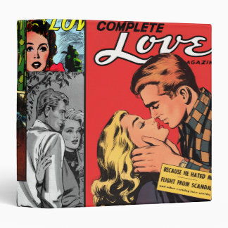 Comic Book Romance 3 Ring Binder