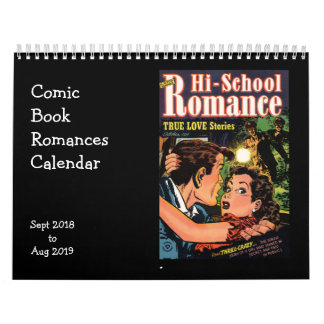 Comic Book Romances September 2018 Calendar