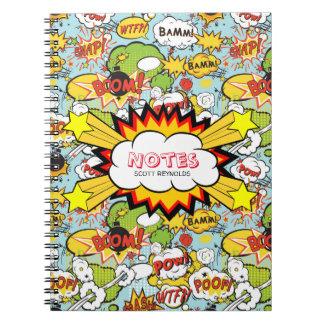 Comic Book Sayings Notebook