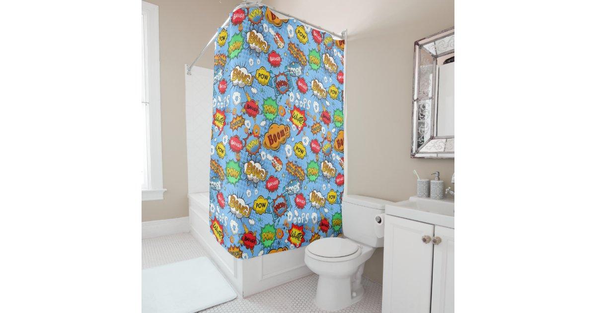 Comic Book Shower Curtain