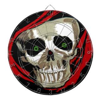 Comic Book Skull Face Skeleton Death Game Dartboard With Darts