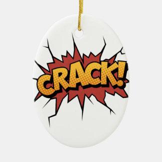 Comic Book Sound Effect - Crack! Pop Art Ceramic Ornament