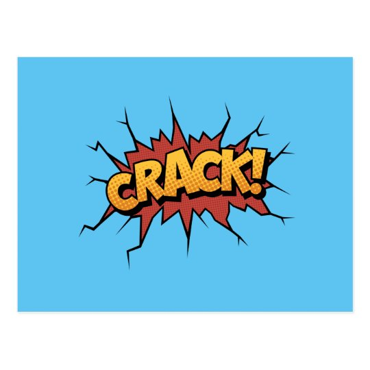 Comic Book Sound Effect Crack Pop Art Postcard Zazzle Com