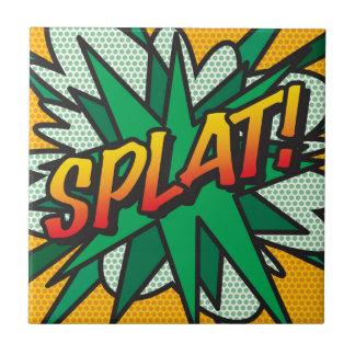 Comic Book SPLAT! Ceramic Tile