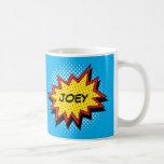 Comic Book Style Colorful Custom Name Classic White Coffee Mug