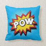 Comic Book Style Colorful POW Pillow