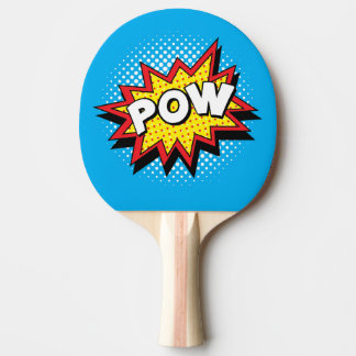 Comic Book Style Colorful POW Ping-Pong Paddle