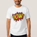 comic book style pow boom bang design t shirt