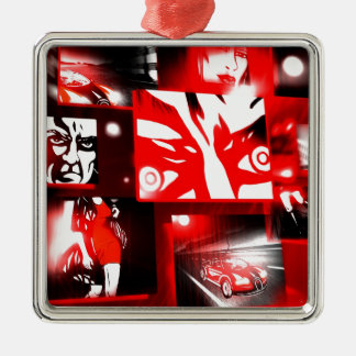 Comic Book Style Serie Christmas Tree Ornaments