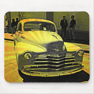 Comic Book Style Vintage Auto Downtown Mouse Pads