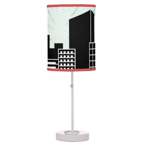 comic book super hero themed boys bedroom decor table lamp