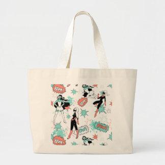 comic book super heroines jumbo tote bag