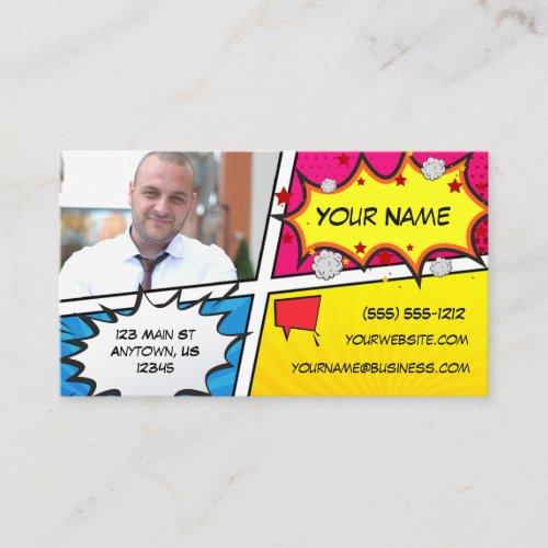 Comic Book Superhero Business Card