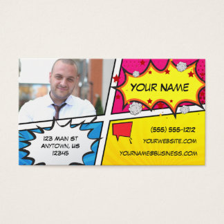 Comic Book Superhero Business Card