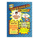 Comic Book Superhero Photo Insert Birthday Party Personalized Announcement