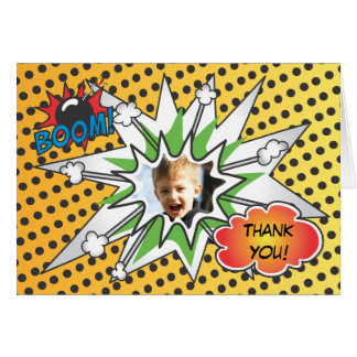 Comic Book Superhero Thank you card