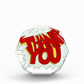 Comic Book Thank You Text Cartoon Award