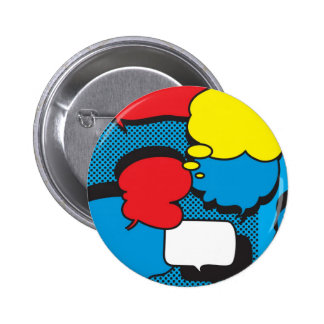 Comic Book Thought Bubbles 2 Inch Round Button