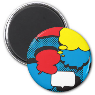 Comic Book Thought Bubbles 2 Inch Round Magnet