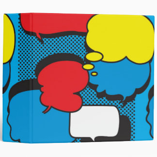 Comic Book Thought Bubbles 3 Ring Binder