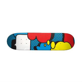 Comic Book Thought Bubbles Custom Skate Board