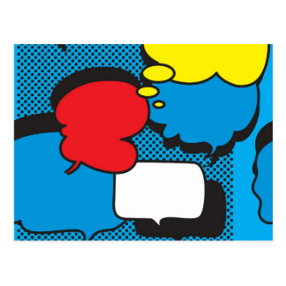 Comic Book Thought Bubbles Post Card