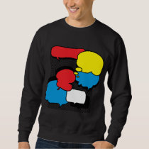 Comic Book Thought Bubbles Sweatshirt