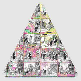 Comic book triangle sticker
