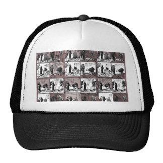 Comic book trucker hat