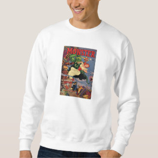 Comic Book Utopia MONSTER White Retro Sweatshirt