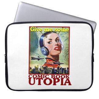 "Comic Book Utopia Retro 15"" Laptop Cover"