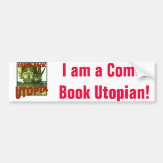 Comic Book Utopia Retro 1 Bumper Sticker