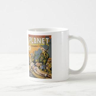Comic Book Utopia Retro PC white mug