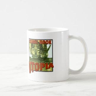 Comic Book Utopia Retro Two white mug