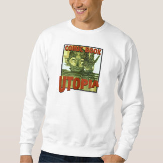Comic Book Utopia White Retro One Sweatshirt