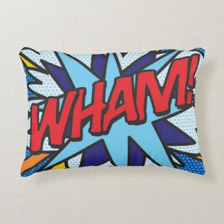 Comic Book WHAM! BANG! accent pillow cushion