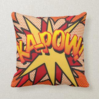 Comic Book WHAM! KA-POW! Throw Pillow