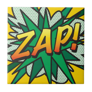 Comic Book ZAP Ceramic Tile