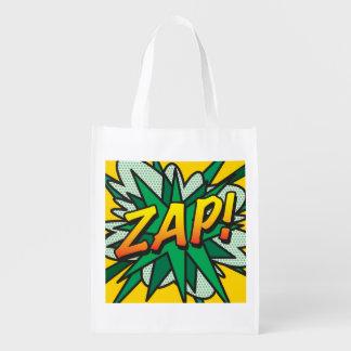 Comic Book ZAP! KA-POW! Grocery Bag