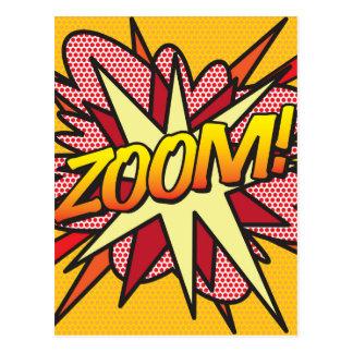 Comic Book ZOOM! Postcard