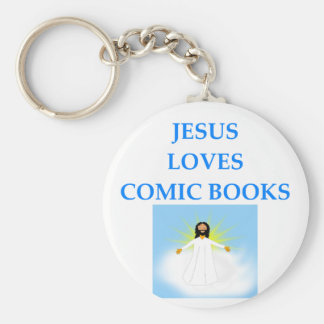 COMIC BOOKS BASIC ROUND BUTTON KEYCHAIN