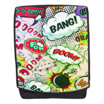 comic boom bang oops unisex backpack