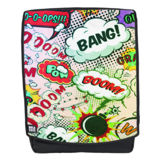 comic boom bang oops unisex backpack