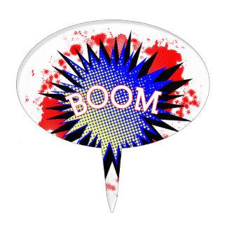 Comic Boom Cake Topper