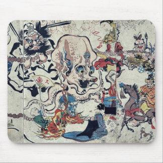 Comic Buddhist procession by Kawanabe,Gyosai Mouse Pad