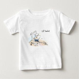 Comic cat treadmill baby T-Shirt