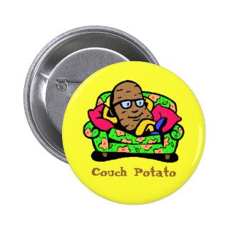 """Comic """"Couch Potato"""" 2 Inch Round Button"""