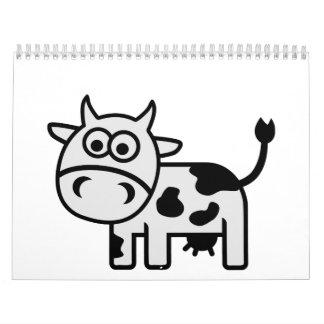 Comic cow calendar