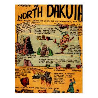 Cómic de Dakota del Norte Postal