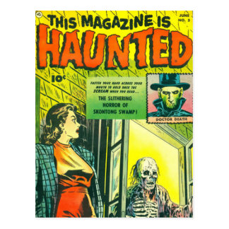 Cómic de Halloween del vintage Postal